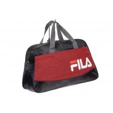 На фото 1 - Дорожная сумка из текстиля, цвет красная клетка