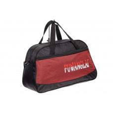 На фото 1 - Дорожная сумка из текстиля, цвет бордо
