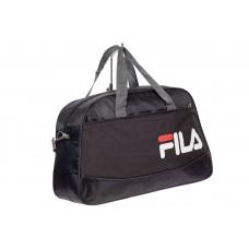 На фото 1 - Дорожная сумка из текстиля, цвет черный с серым