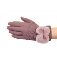 На фото 1 - Перчатки женские с искусственным мехом, цве...