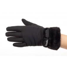 На фото 1 - Классические перчатки женские с мехом, цвет...