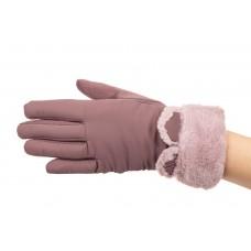 На фото 1 - Перчатки женские с теплой подкладкой и мехо...