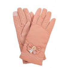 На фото 1 - Классические перчатки женские, цвет пыльная роза