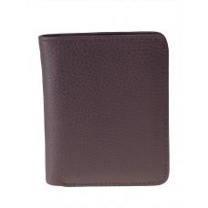 На фото 1 - Небольшой женский кошелёк из мягкой кожи, цвет серо-сиреневый