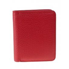 На фото 1 - Небольшой женский кошелёк из мягкой кожи, цвет красный