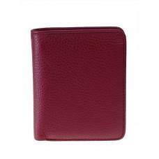 На фото 1 - Небольшой женский кошелёк из мягкой кожи, цвет бордовый