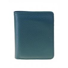 На фото 1 - Небольшой женский кошелёк из мягкой кожи, цвет зелёный