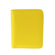 На фото 1 - Небольшой женский кошелёк из мягкой кожи, цвет жёлтый