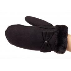 На фото 1 - Пара варежек зимних женских, цвет черный