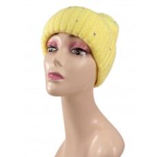 На фото 1 - Шапка женская, цвет желтый