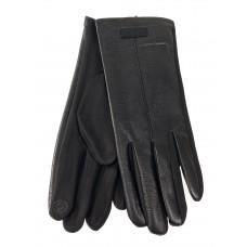 На фото 1 - Классические перчатки женские, цвет черный