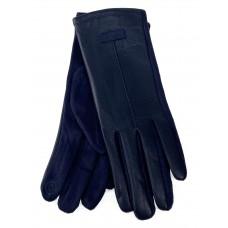 На фото 1 - Классические перчатки женские, цвет синий