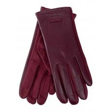 На фото 1 - Классические перчатки женские, цвет бордовый