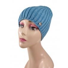На фото 1 - Шапка женская, цвет голубой