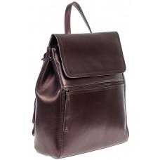 На фото 1 - Кожаный женский рюкзак, цвет бронзовый