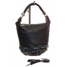 На фото классический bucket bag из натуральной кожи, купить оптом в магазине Грета