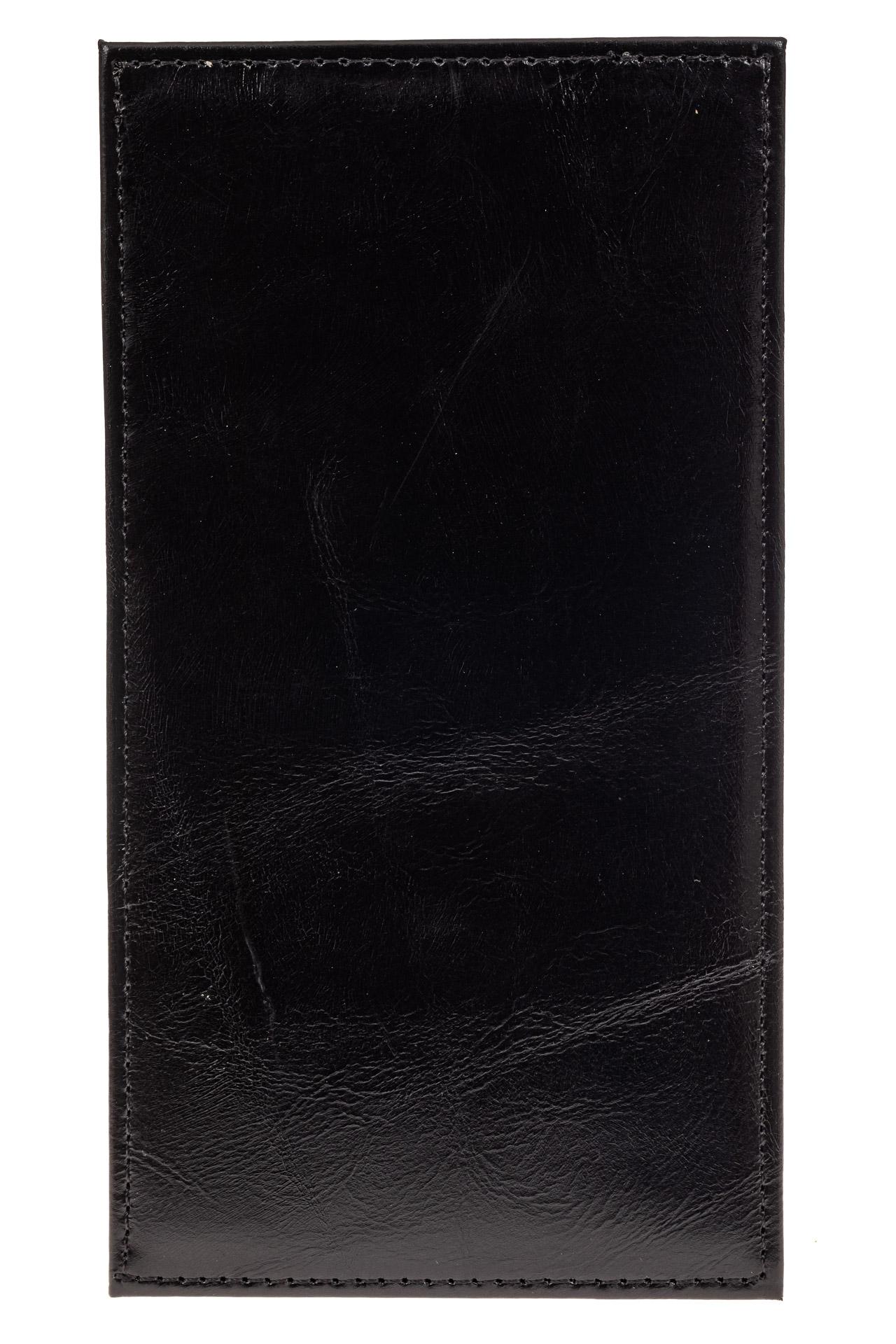 На фото 2 - Дешевый кожаный пенал-кардхолдер, цвет черный