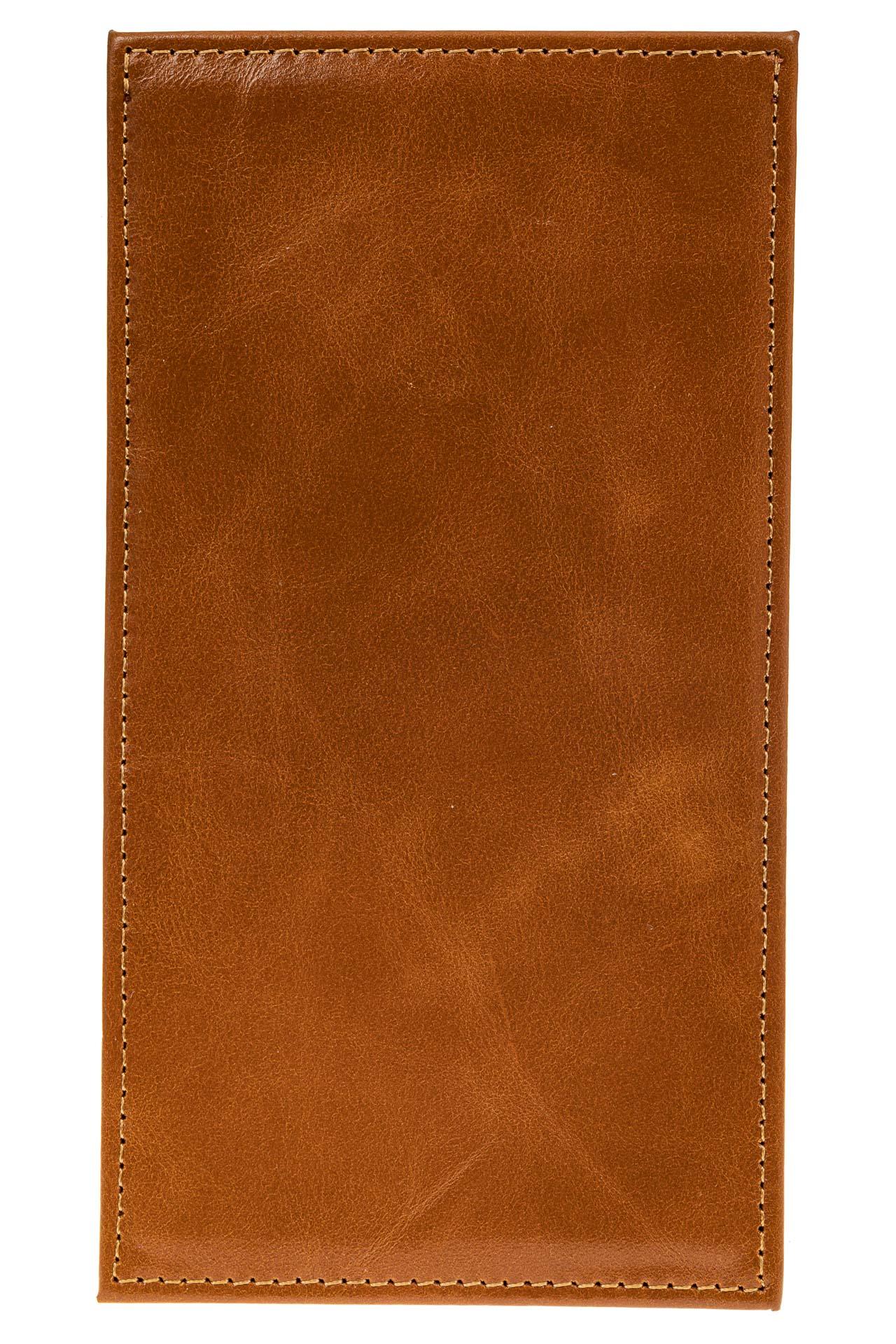 На фото 2 - Дешевый кожаный пенал-кардхолдер, цвет рыжий
