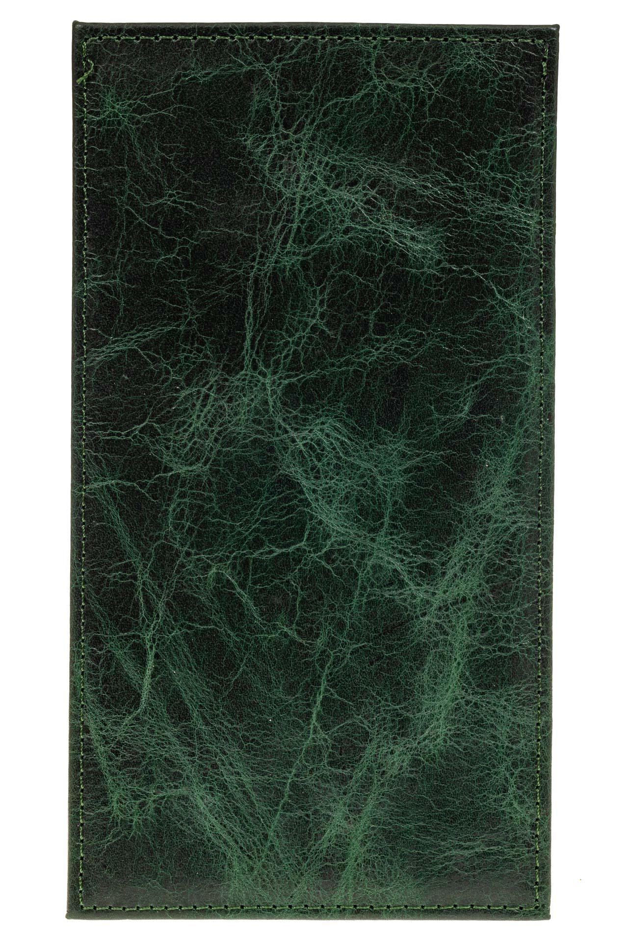 На фото 2 - Пенал-кардхолдер из натуральной кожи, цвет изумрудный