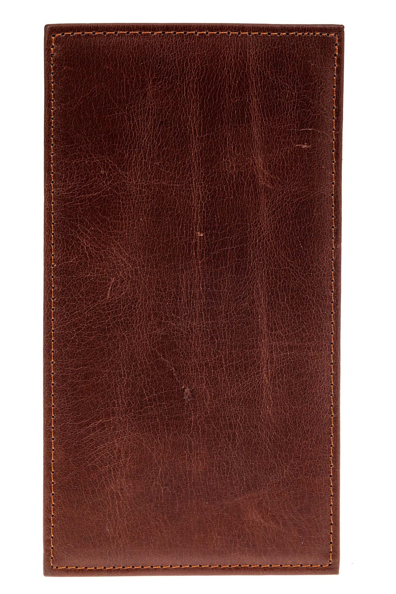 На фото 2 - Пенал-кардхолдер из натуральной кожи, цвет коричневый