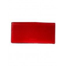 На фото 1 - Женское двухцветное портмоне из натуральной кожи, цвет красный с тёмно-синим