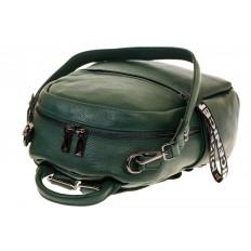 На фото 4 - Зеленый рюкзак-трансформер из натуральной кожи 1015RK5