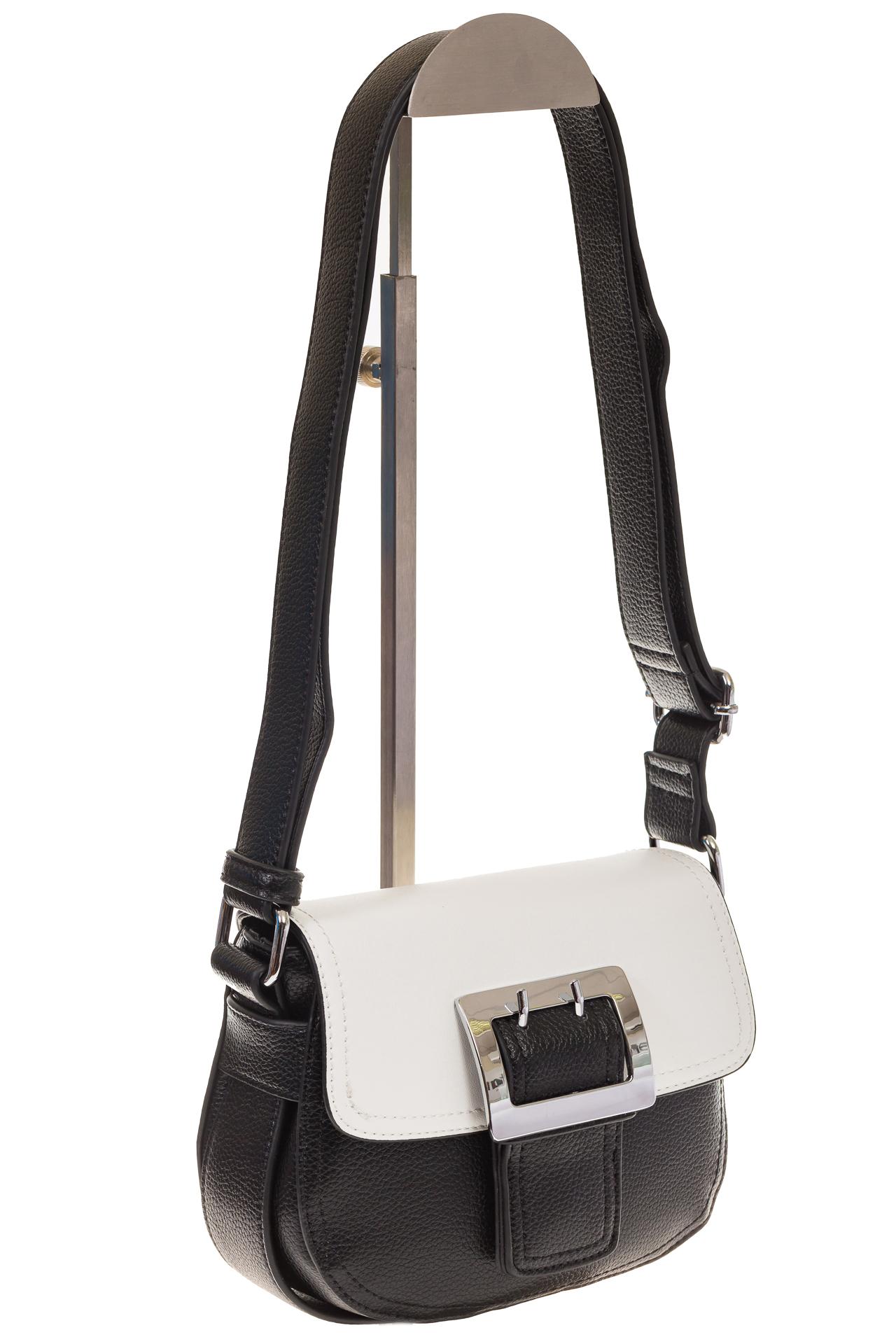 На фото 1 - Сумка saddle bag из черной эко-кожи Buffalo 1026APN