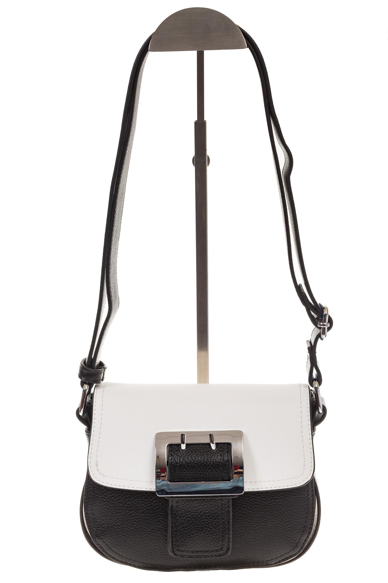 На фото 2 - Сумка saddle bag из черной эко-кожи Buffalo 1026APN