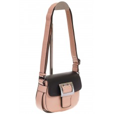На фото 1 - Сумка saddle bag из розовой эко-кожи Buffalo 1026APN