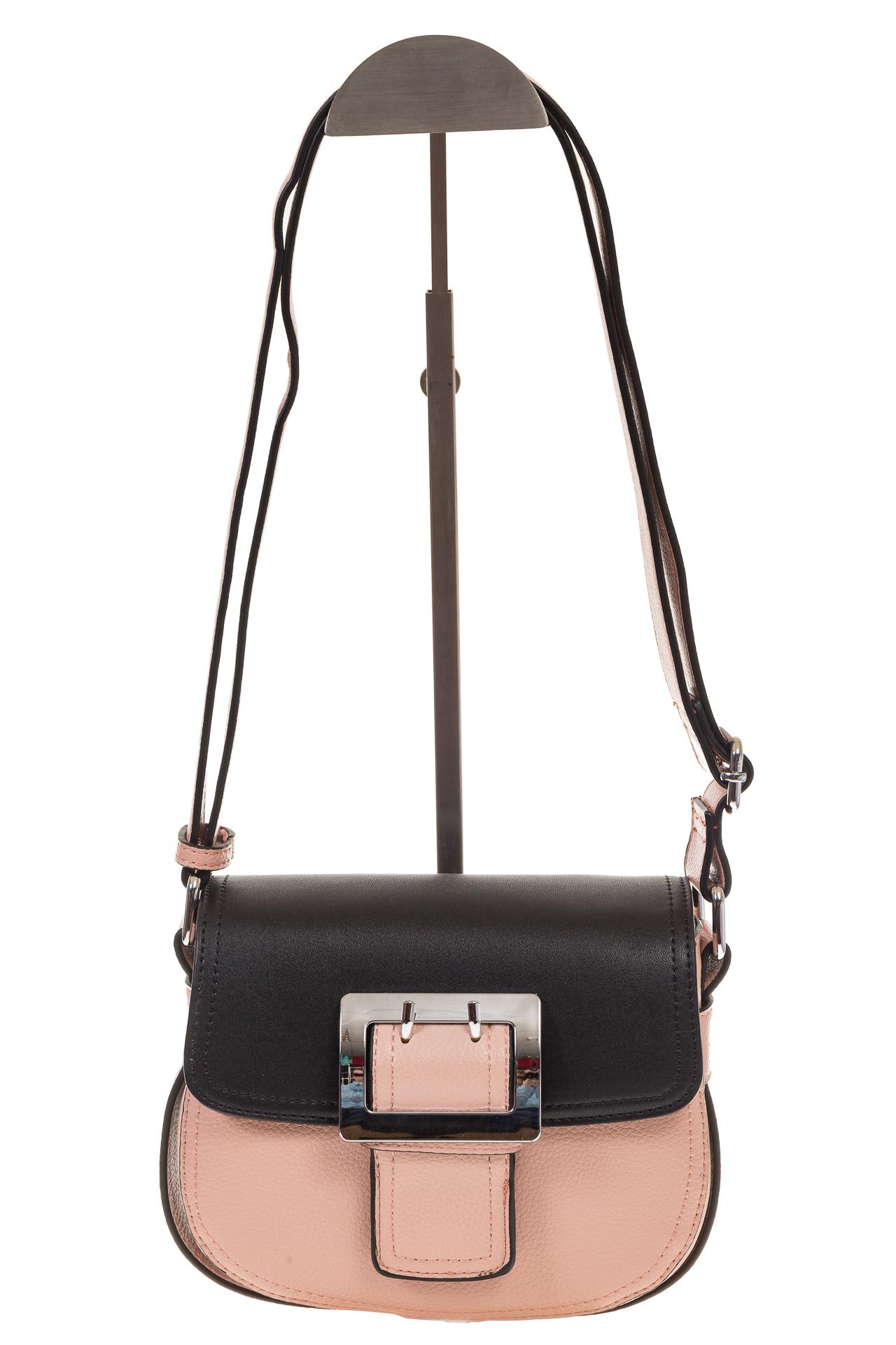 На фото 2 - Сумка saddle bag из розовой эко-кожи Buffalo 1026APN
