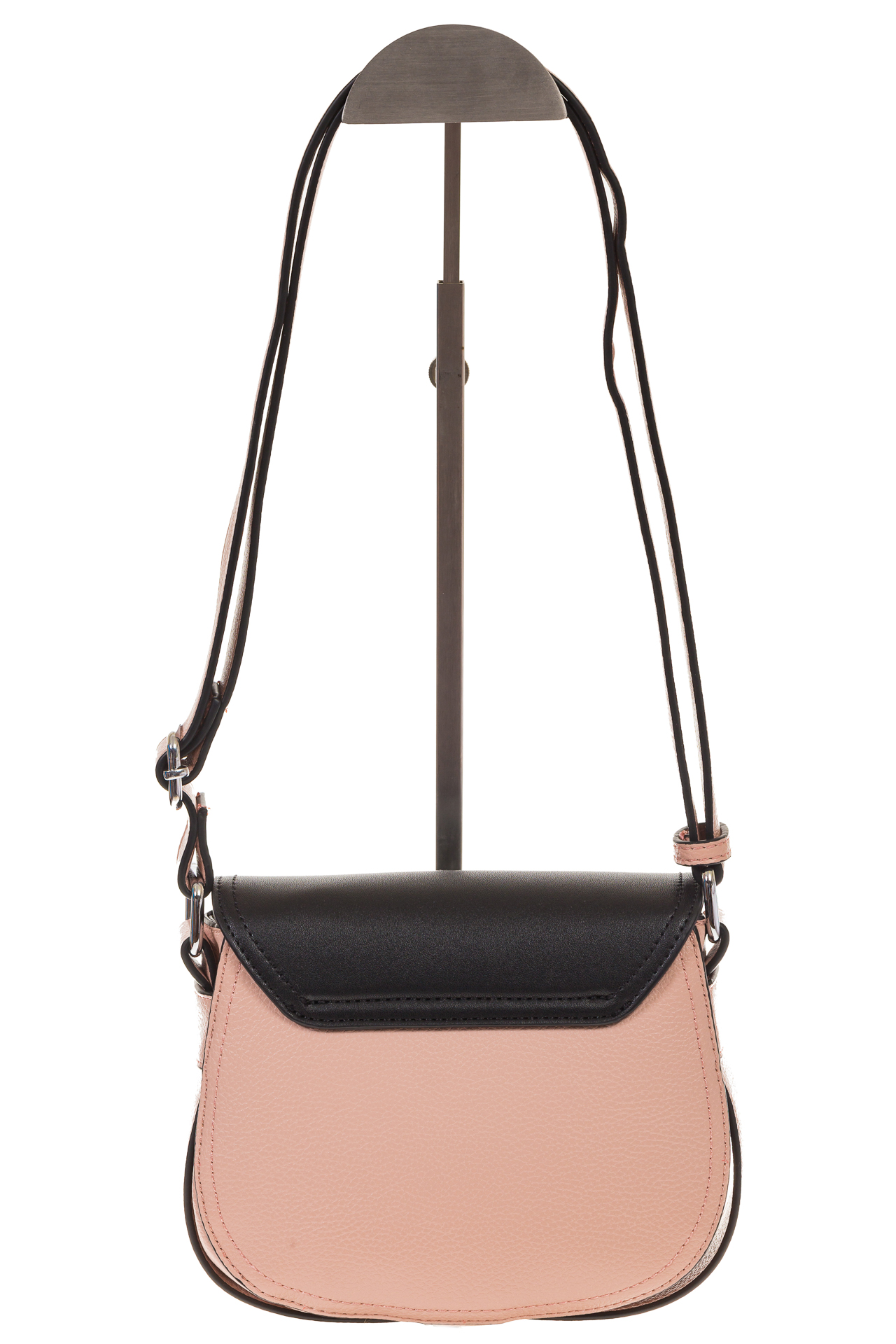 На фото 3 - Сумка saddle bag из розовой эко-кожи Buffalo 1026APN