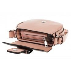 На фото 4 - Сумка saddle bag из розовой эко-кожи Buffalo 1026APN