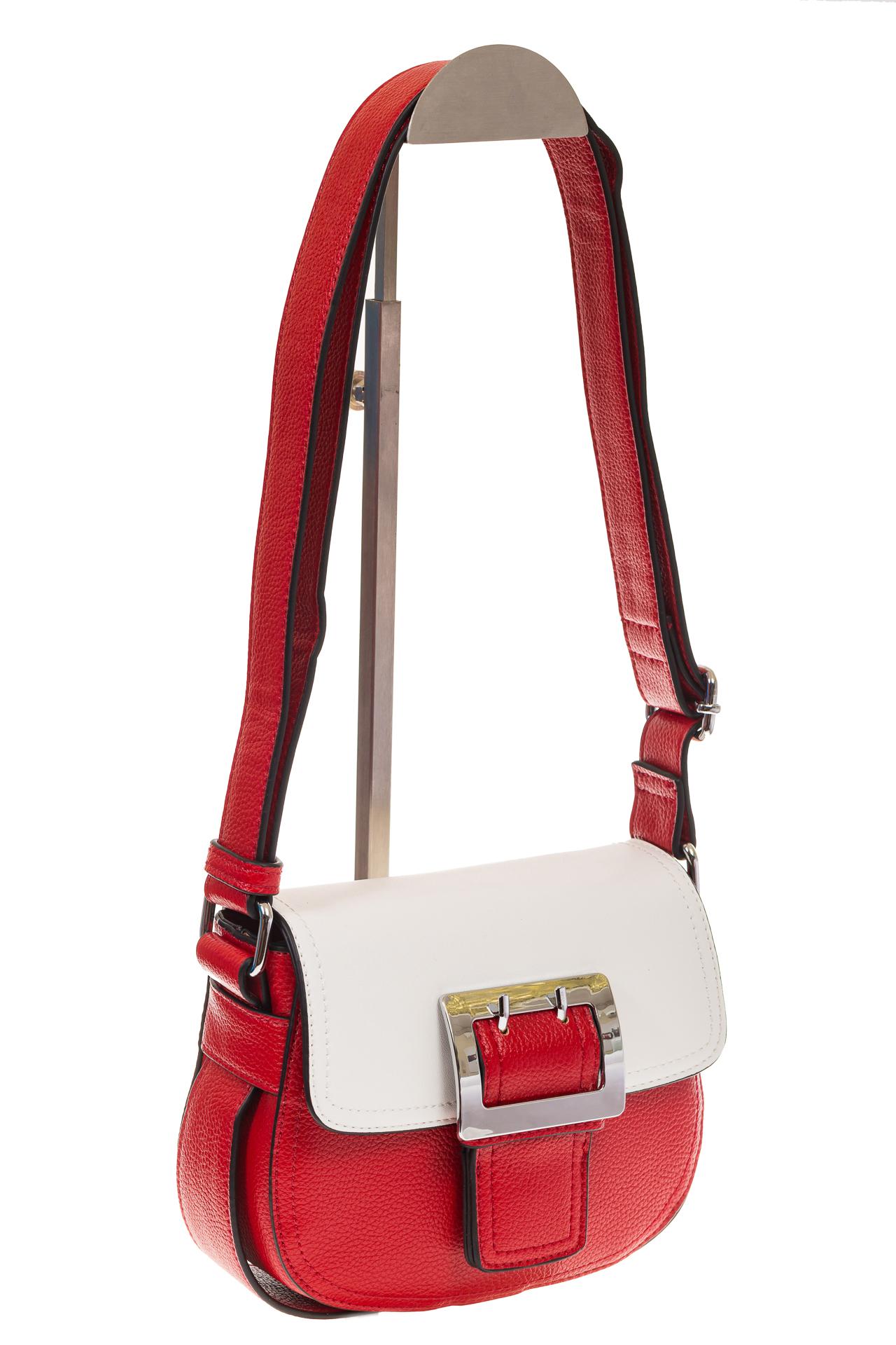 На фото 1 - Сумка saddle bag из красной эко-кожи Buffalo 1026APN