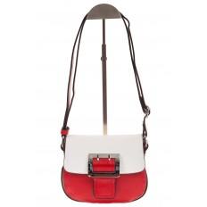 На фото 2 - Сумка saddle bag из красной эко-кожи Buffalo 1026APN
