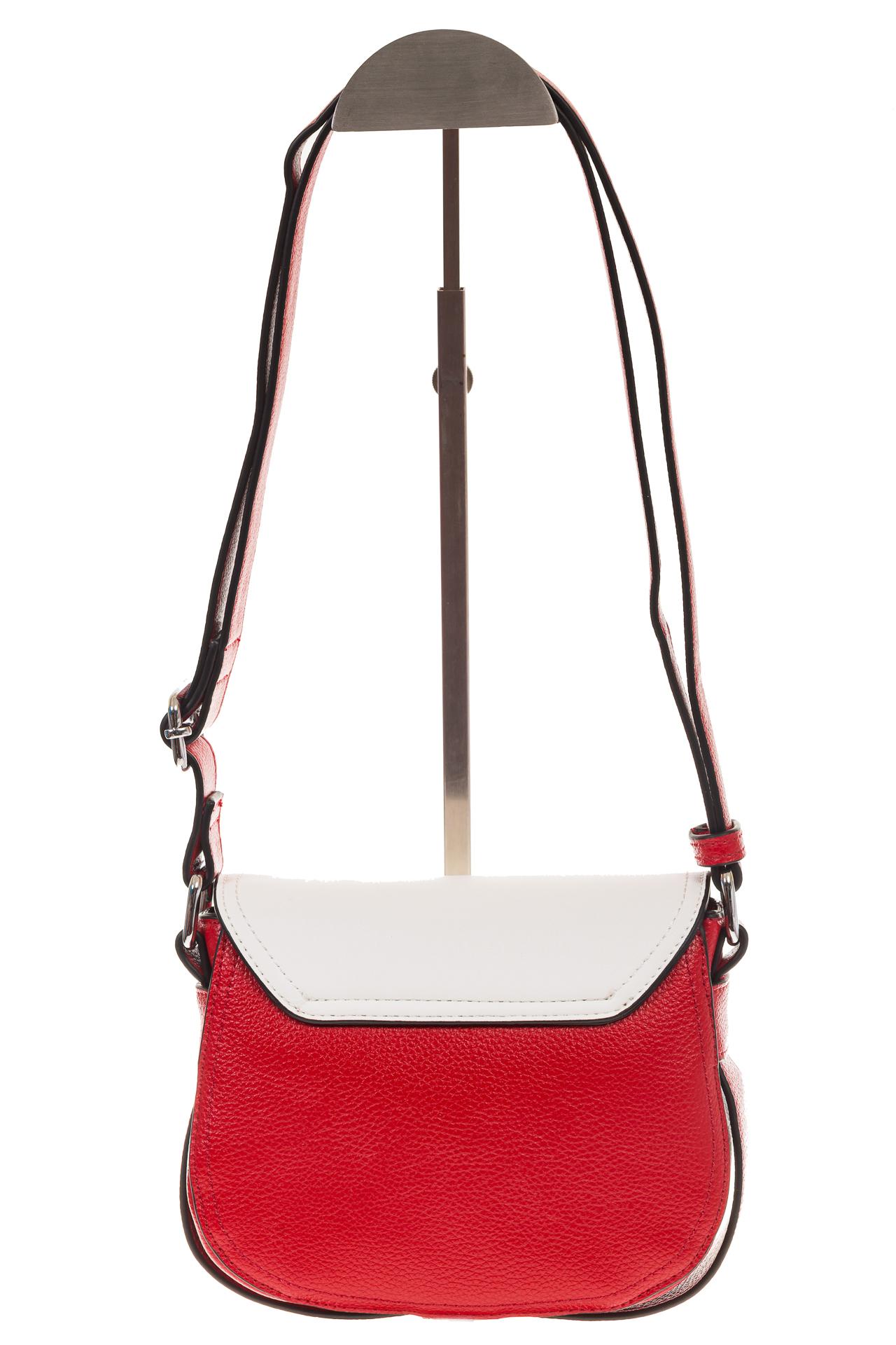 На фото 3 - Сумка saddle bag из красной эко-кожи Buffalo 1026APN