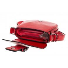 На фото 4 - Сумка saddle bag из красной эко-кожи Buffalo 1026APN