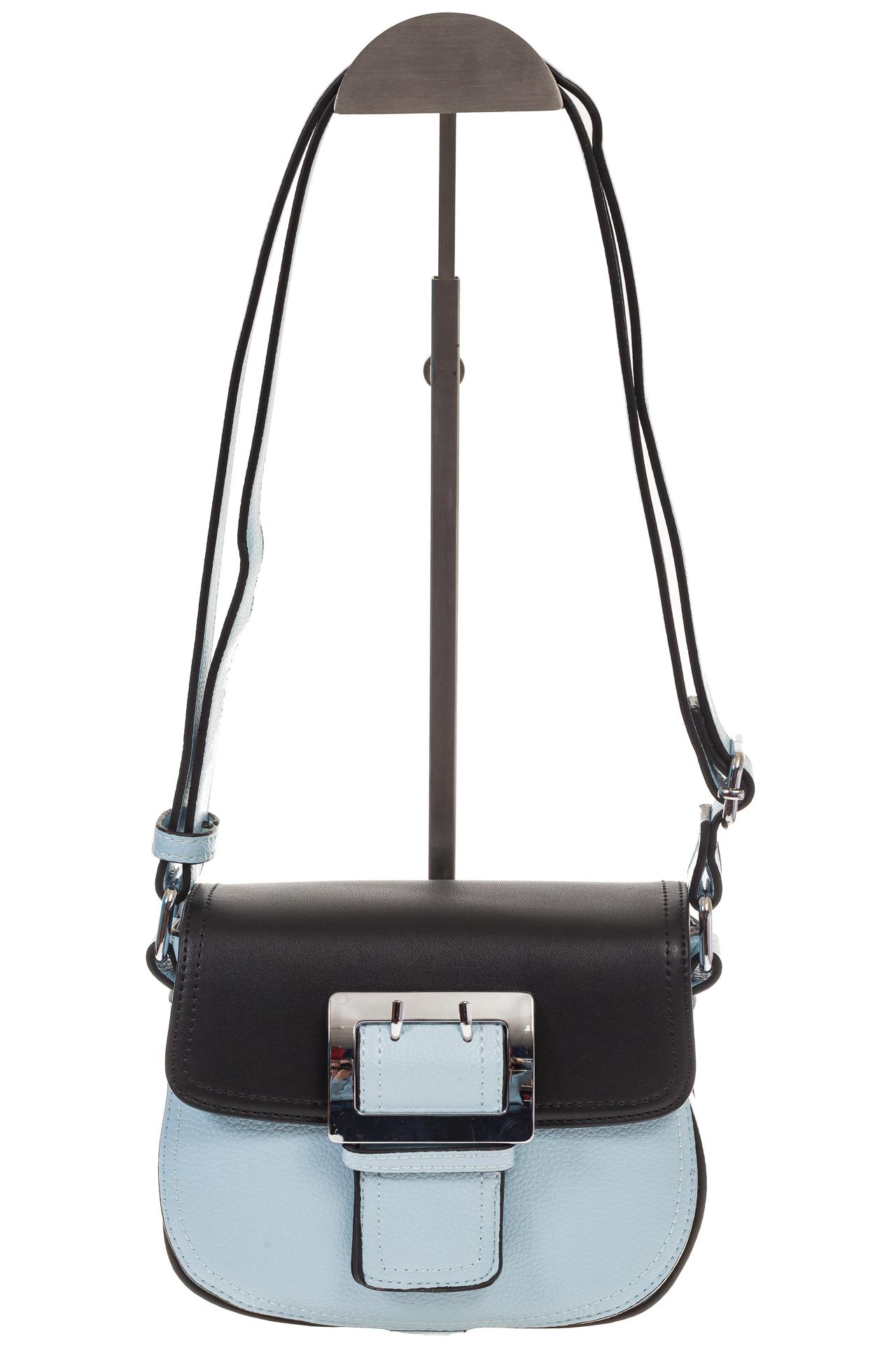 На фото 2 - Сумка saddle bag из голубой эко-кожи Buffalo 1026APN