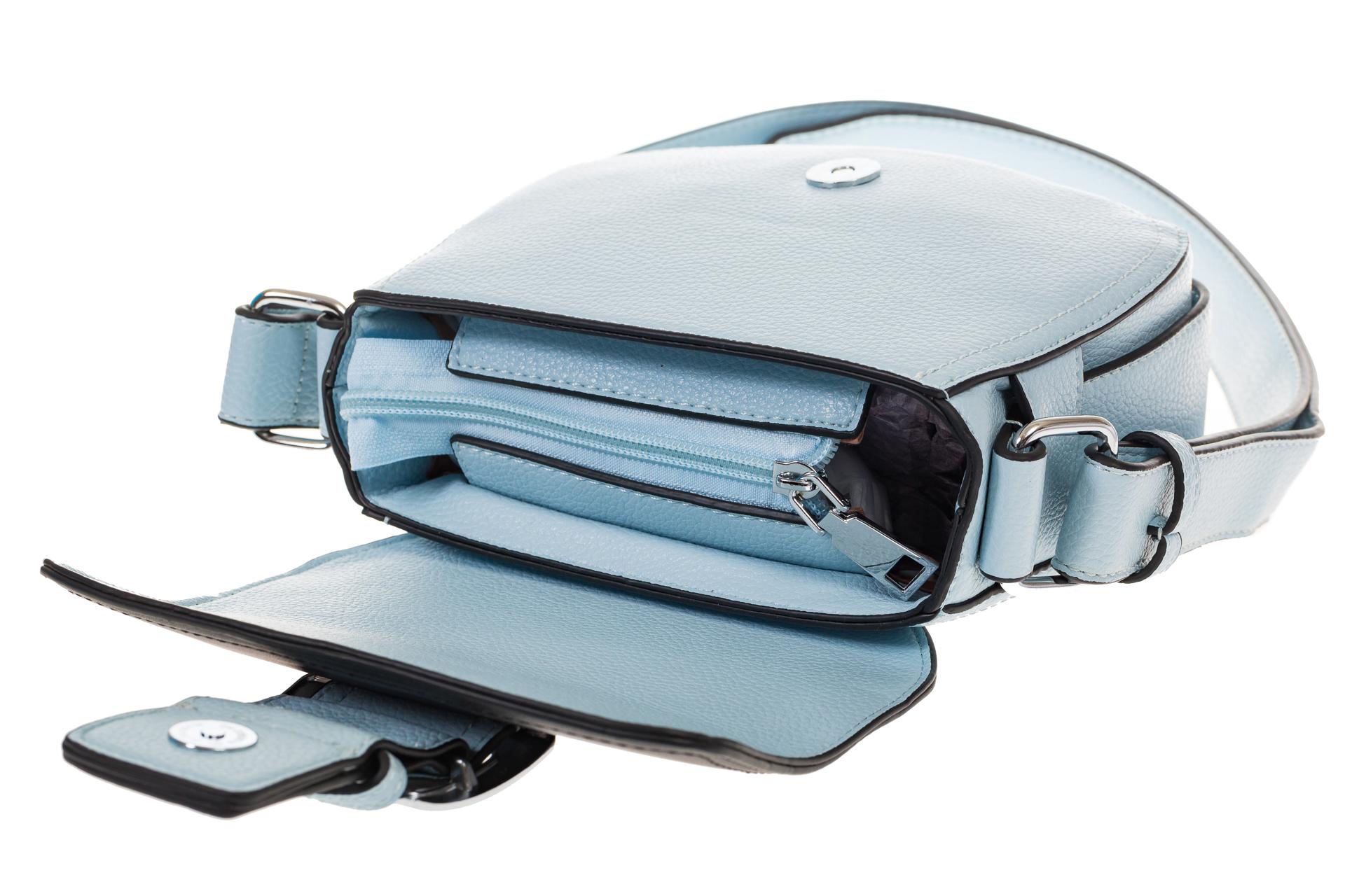 На фото 4 - Сумка saddle bag из голубой эко-кожи Buffalo 1026APN