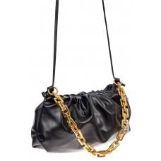 На фото 1 - Театральная женская сумка из искусственной кожи, цвет чёрный