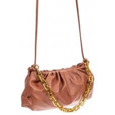 На фото 1 - Театральная женская сумка из искусственной кожи, цвет лососевый
