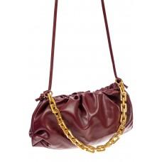 На фото 1 - Театральная женская сумка из искусственной кожи, цвет бордовый