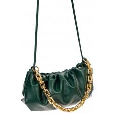 На фото 1 - Театральная женская сумка из искусственной кожи, цвет зелёный