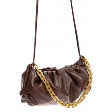 На фото 1 - Театральная женская сумка из искусственной кожи, цвет коричневый