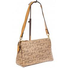 На фото 1 - Небольшая сумка багет из искусственной кожи...