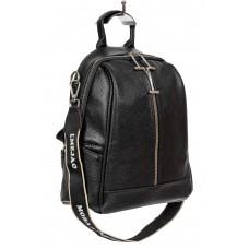 На фото 1 - Рюкзак-трансформер молодёжный из искусственной кожи, цвет чёрный
