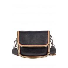 На фото 2 - Сумочка кросс-боди из экокожи, цвет черный