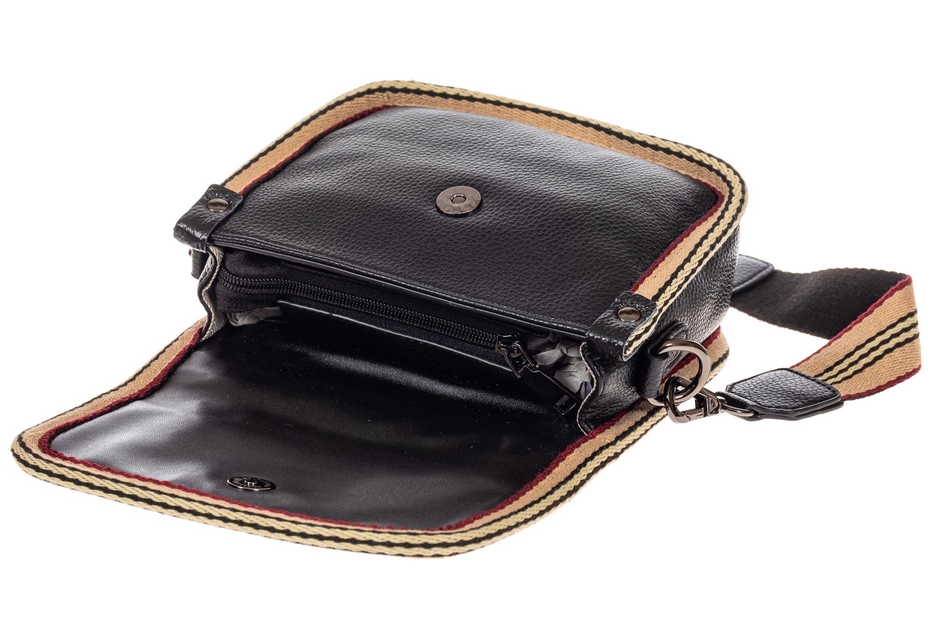 На фото 4 - Сумочка кросс-боди из экокожи, цвет черный