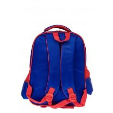 На фото 2 - Рюкзак для мальчика из текстиля, цвет синий с красным