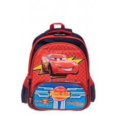 На фото 1 - Рюкзак для мальчика из текстиля, цвет красн...