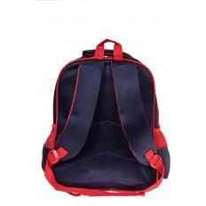 На фото 2 - Рюкзак для мальчика из текстиля, цвет красный с синим
